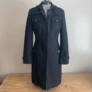 Kenneth Cole Reaction Wool Blend Pea Coat Black 6